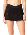 CROCHET ALL DAY BLACK CROCHET BIKINI SWIM SKIRT ANNE COLE 18MB40603-BLK