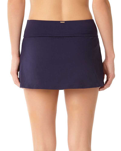 LIVE IN COLOR NEW NAVY POCKETED SWIM SKIRT ANNE COLE 18MB41801-NAVY