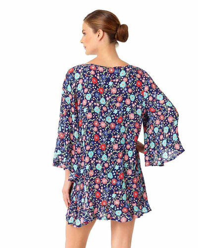 LAZY DAISY NAVY FLOUNCE TUNIC ANNE COLE 18MC51060-NVYM