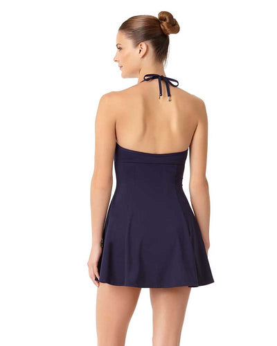 LIVE IN COLOR NEW NAVY UNDERWIRE SWIMDRESS ANNE COLE 18MD60501-NAVY