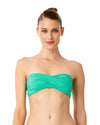 LIVE IN COLOR ACE OF JADES TWIST FRONT BANDEAU BRA TOP ANNE COLE 18MT10101-JAD