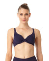 LIVE IN COLOR NEW NAVY TWIST FRONT BIKINI TOP ANNE COLE 18MT10501-NAVY