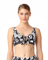 COMING UP ROSES BANDED TRIANGLE BIKINI TOP ANNE COLE 18MT10654-MULT