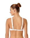 CROCHET ALL DAY WHITE CROCHET HIGH NECK BIKINI TOP ANNE COLE 18MT12703-WHT
