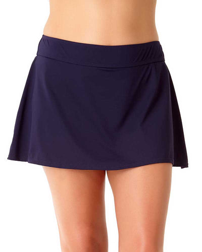 LIVE IN COLOR NEW NAVY ROCK SWIM SKIRT ANNE COLE 18PB40001-NAVY