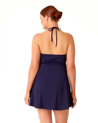 LIVE IN COLOR NEW NAVY UNDERWIRE SWIMDRESS ANNE COLE 18PD60501-NAVY