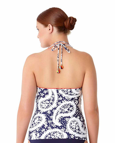 PATTIE PAISLEY HALTER TANKINI TOP ANNE COLE 18PT20458-NAWH