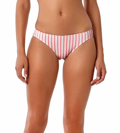 BEACH BUNNY CORAL STRIPE BIKINI BOTTOM ANNE COLE 18SB32202-COST