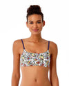 HAPPY STRAPPY BRALETTE BIKINI TOP ANNE COLE 18ST13264-WHML