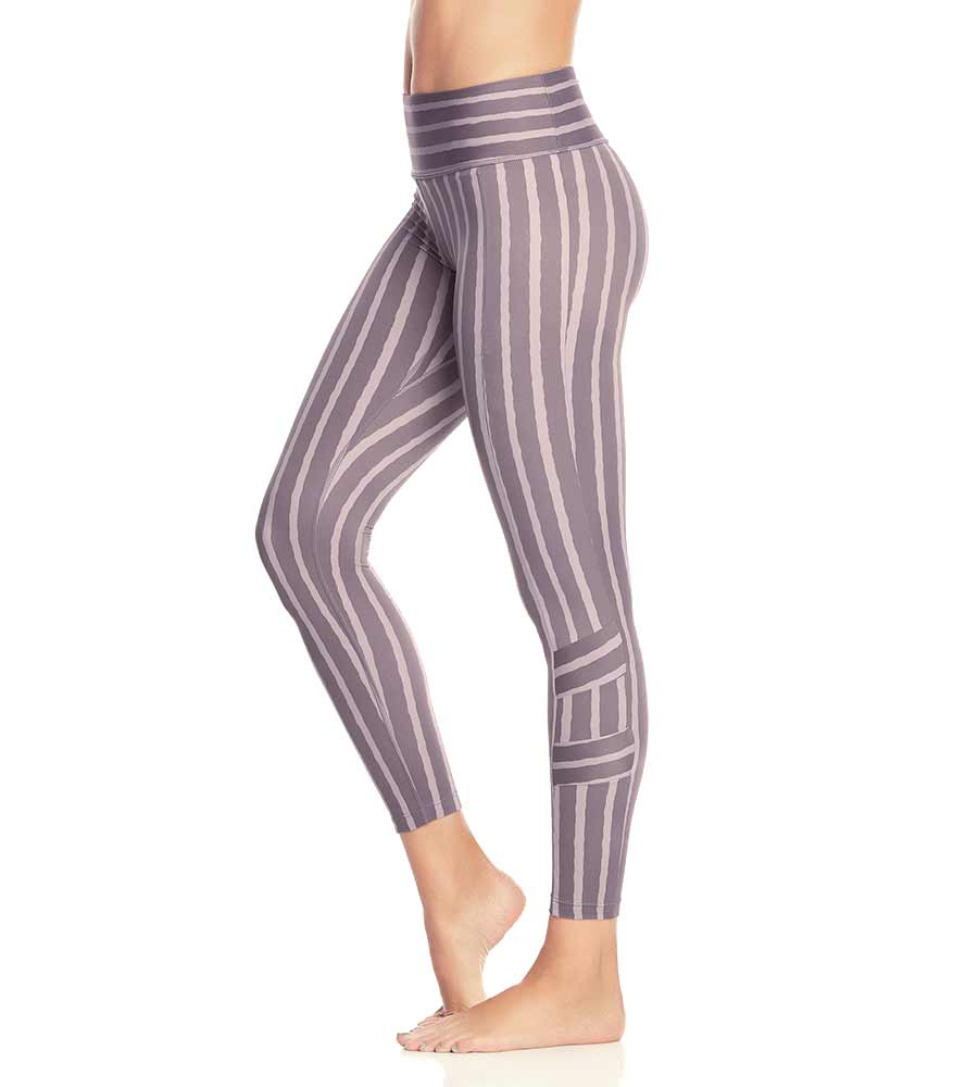 HUES HIGH STRIPED LILAC HIGH RISE LEGGING MAAJI 1975ALM01