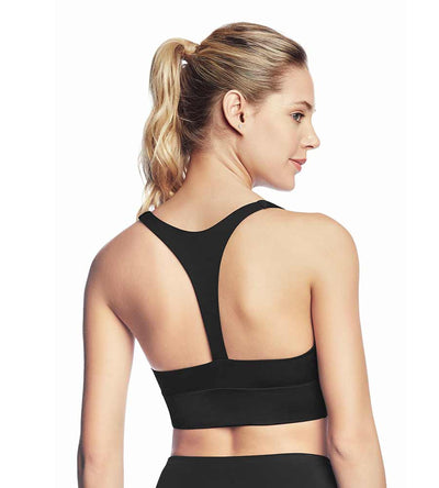 WHISPERING BLACK LOW IMPACT SPORTS BRA MAAJI 1976ASB01