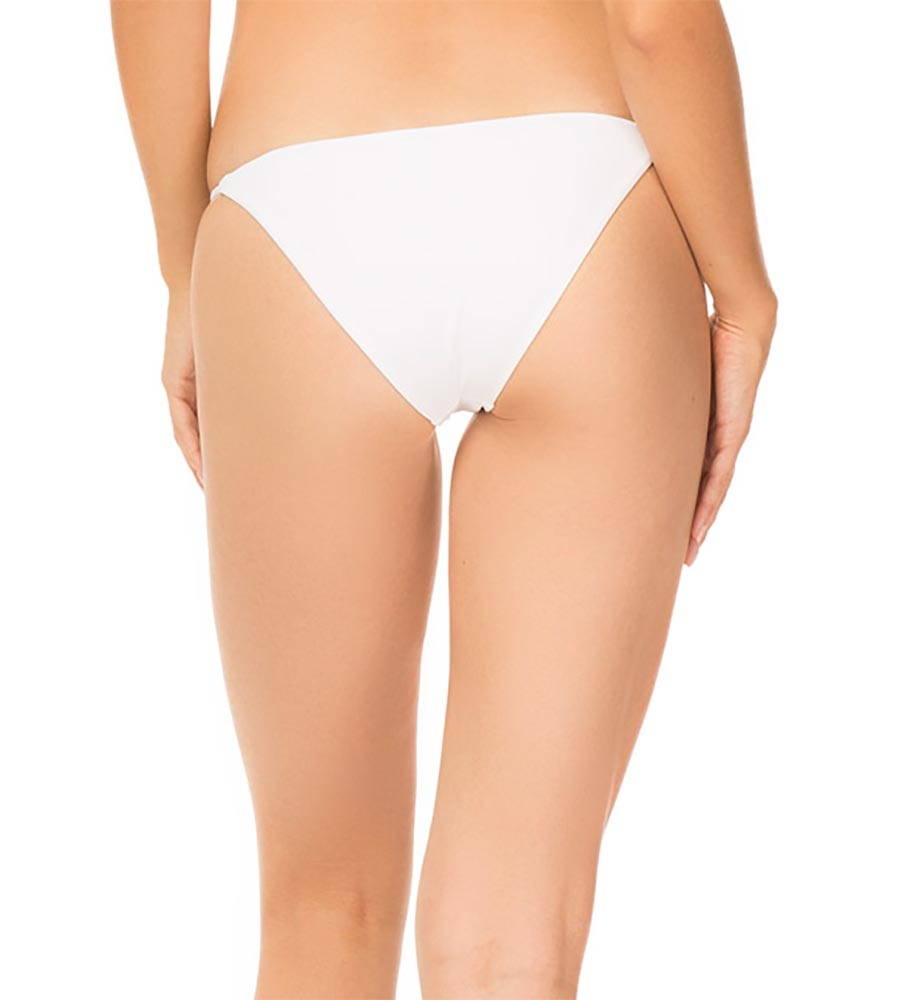 WHITE FINE RIB MARAIS BOTTOM BY TORI PRAVER