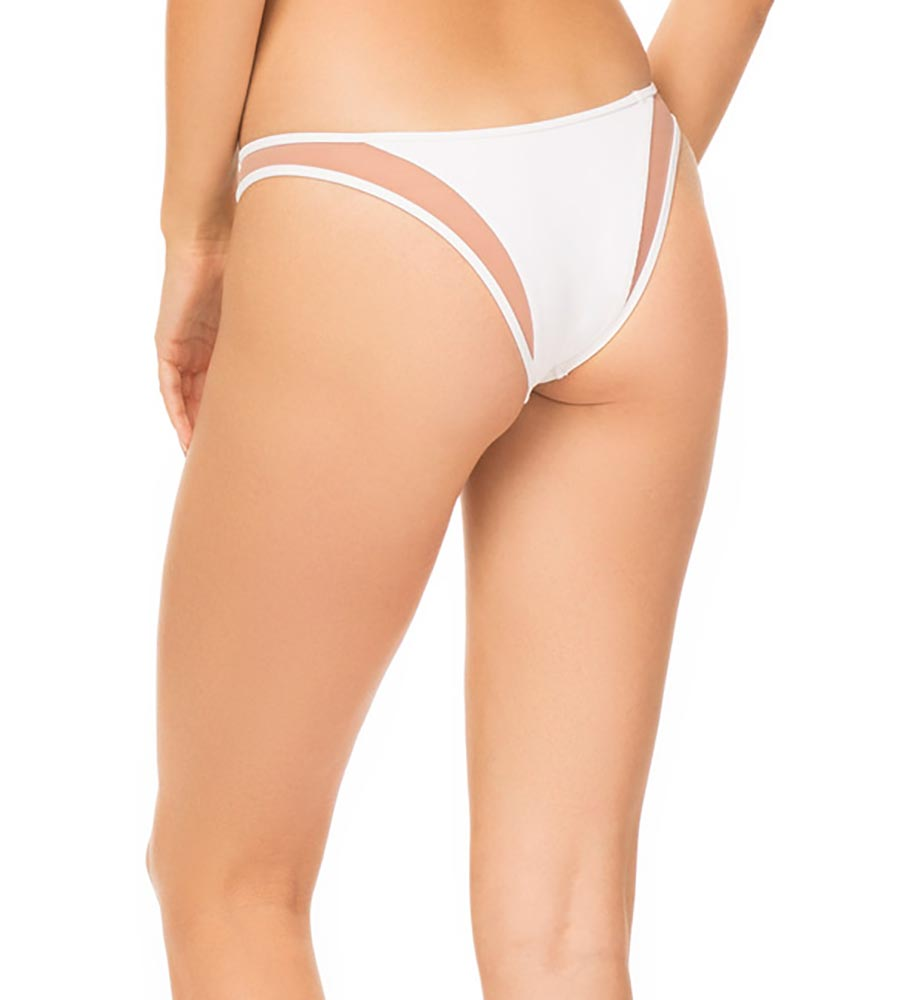 WHITE FINE RIB MANON BOTTOM BY TORI PRAVER