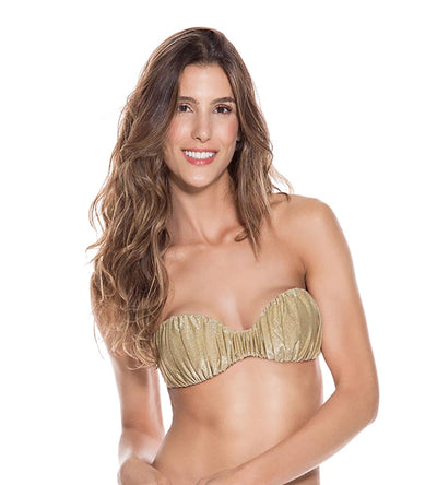 GOLD EVERY DAY DRAPED BANDEAU TOP ONDADEMAR 21246-EVY-9000