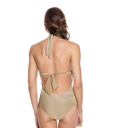 GOLD EVERY DAY HALTER ONE PIEE ONDADEMAR 2332-EVY-9000