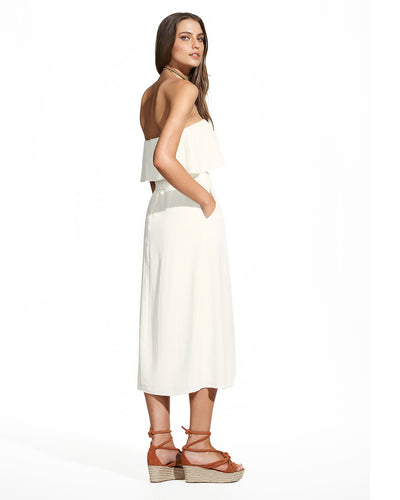 OFF WHITE STRAPLESS DRESS VIX 294-807-003