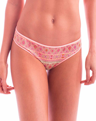 PEACHY LIME CHEVRONS BOTTOM BIKINIMA 301B