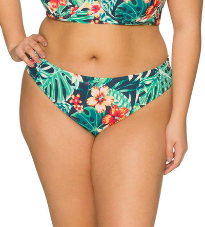 HIBISCUS HIDEAWAY CAMILLA SMOCKED HIPSTER BOTTOM CURVE 302BHBHI