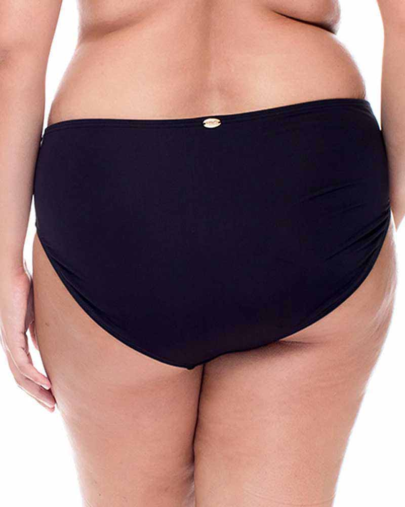 BLACK SHIRRED BOTTOM BY CURVE