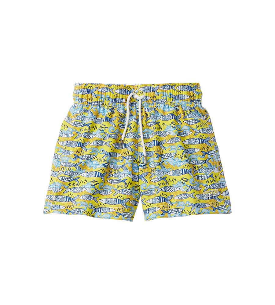 PORTUGUESE FISH SWIM SHORTS AZUL 349