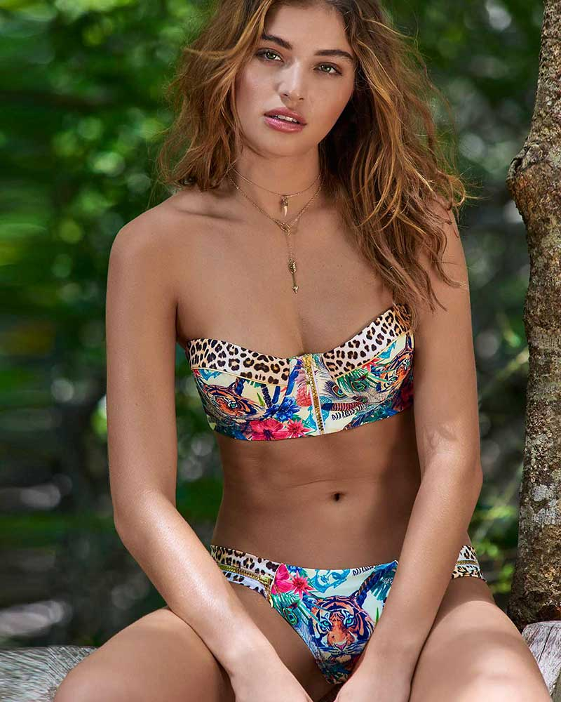 JUNGLE ZIPPER BIKINI BOTTOM BY ALMAMIA