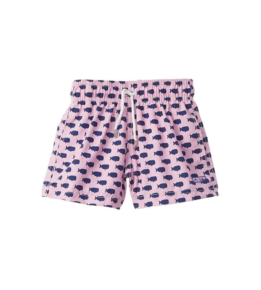 PINK OH, WHALE SWIM SHORTS AZUL 377-P