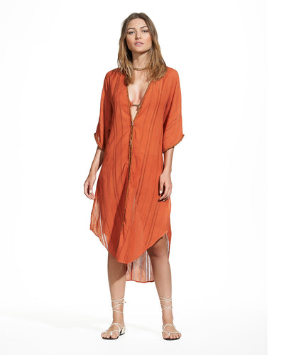 GINGER BRAID CAFTAN VIX 380-807-090