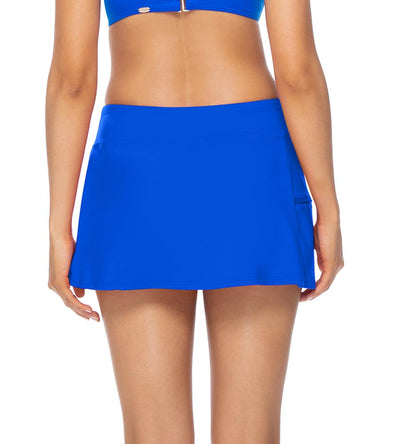 IMPERIAL BLUE SPORTY SWIM SKIRT SUNSETS 40BIMBL