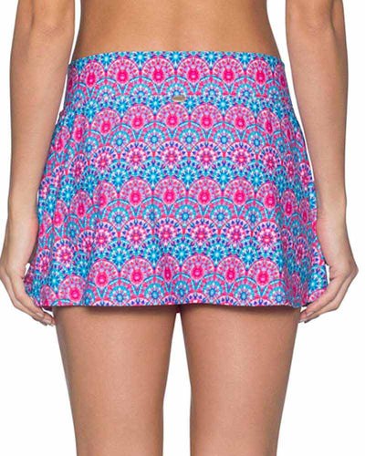 STAINED GLASS SUMMER LOVIN SWIM SKIRT SUNSETS 41BSTGL