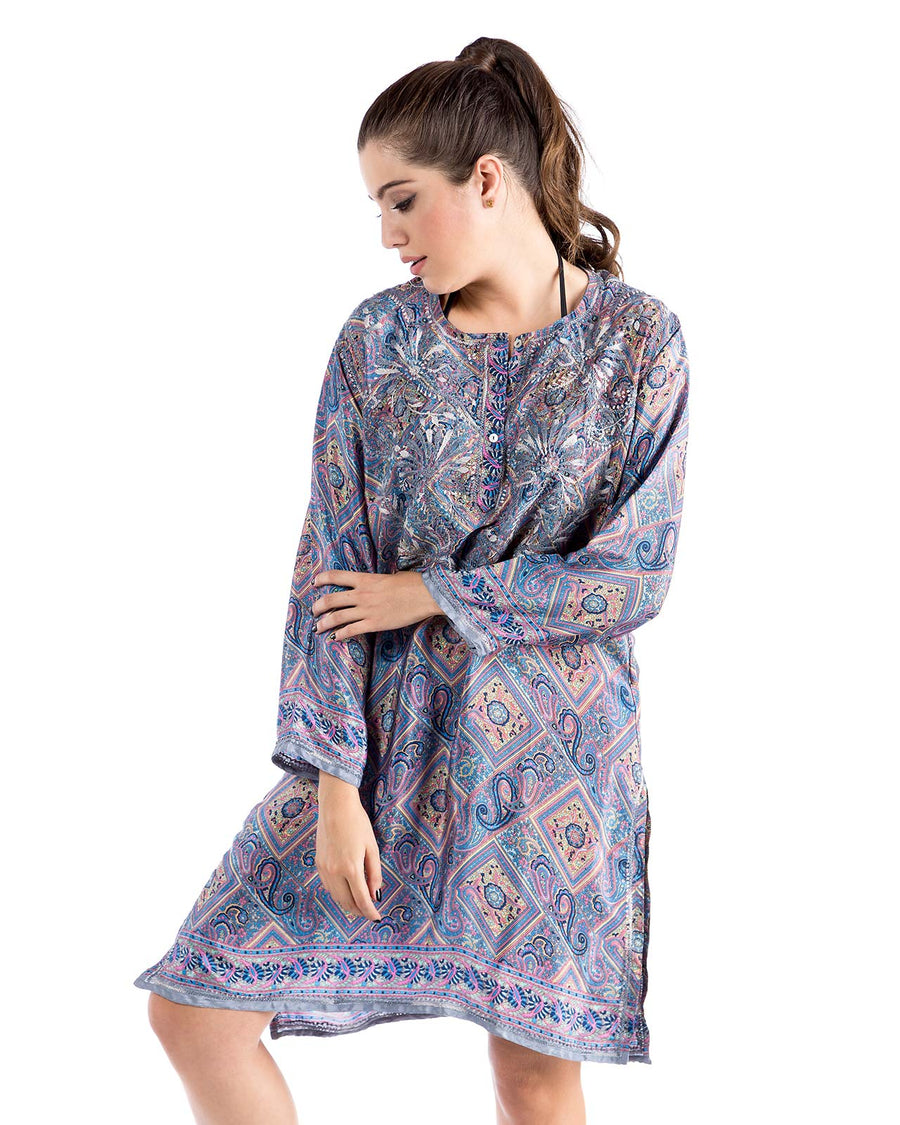 PAISLEY TUNIC DRESS PRAIAVE 5182