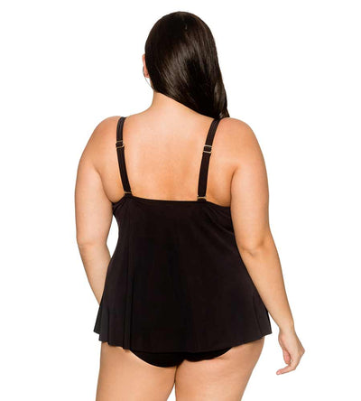 BLACK HARPER FLY-AWAY TANKINI TOP CURVE 572TBLCK