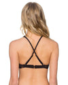 GRIDLOCK BLACK HOLLYWOOD HI-NECK TOP SUNSETS 65TGRBL