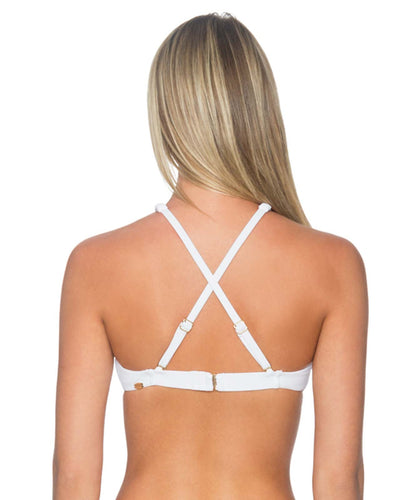 WHITE HOLLYWOOD HI-NECK TOP SUNSETS 65TWHIT