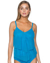 FRENCH BLUE AVA TIERED TANKINI TOP SUNSETS 72FRBL