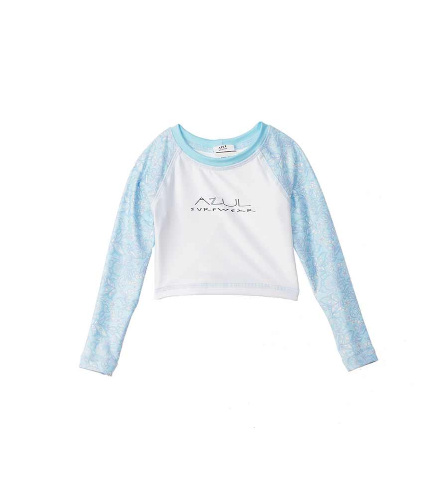 BABY'S BREATH CROP RASHGUARD AZUL 7440