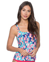 FLOWER BED TAYLOR TANKINI TOP SUNSETS 75FLBE