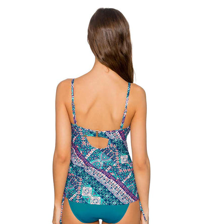 GRAND BAZAAR ICONIC SHIRRED TANKINI TOP SUNSETS 76GRAN