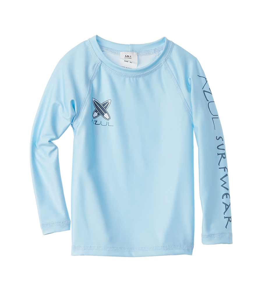 LIGHT BLUE LONG SLEEVE RASHGUARD AZUL 7700-LB