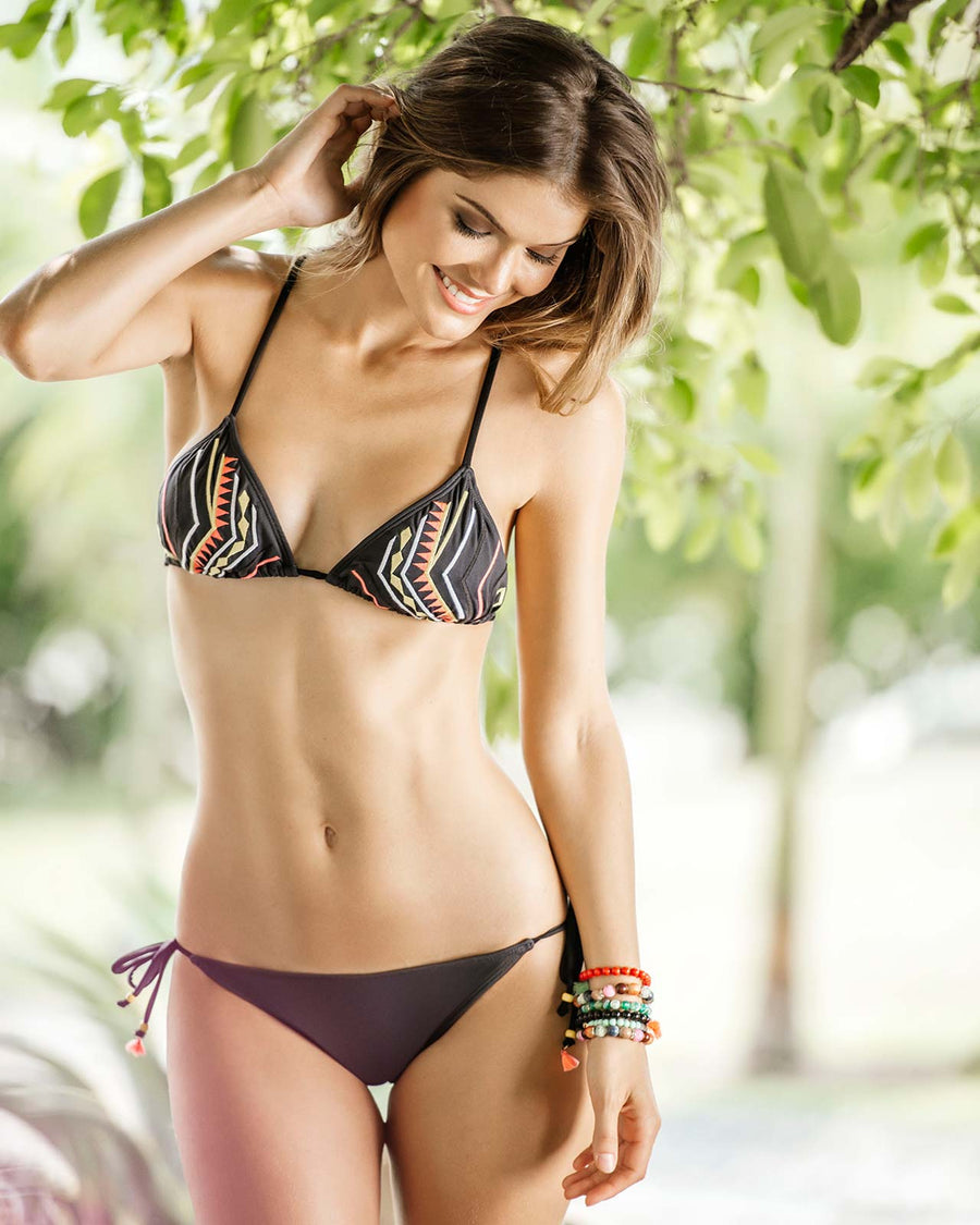TRIBAL TIE SIDE BIKINI BOTTOM KIBYS 775-4