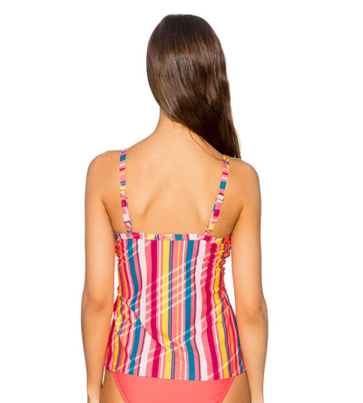 BUNGALOW STRIPE FOREVER TANKINI TOP SUNSETS 77BUNG