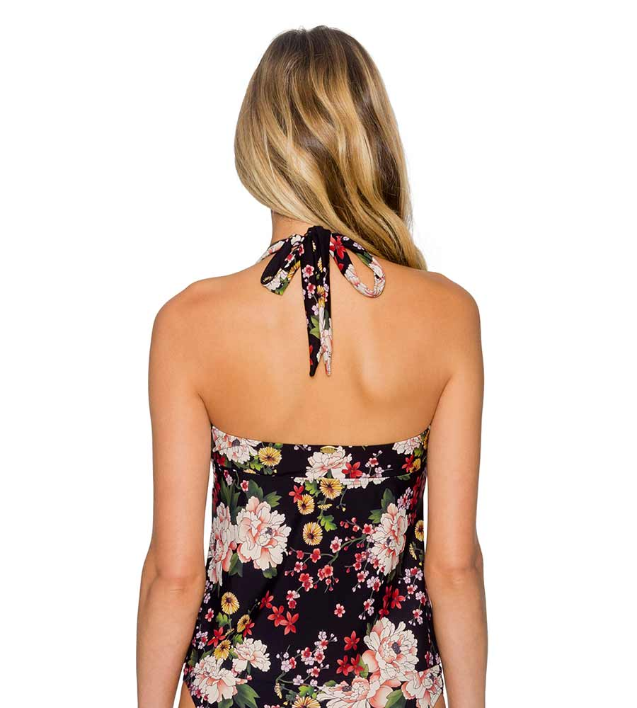 SAKURA FIELDS BLACK HAYDEN HALTERKINI TOP BY SUNSETS