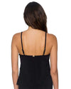 BLACK AVA TIERED TANKINI TOP SUNSETS 92TBLCK