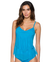 FRENCH BLUE AVA TIERED TANKINI TOP SUNSETS 92TFRBL