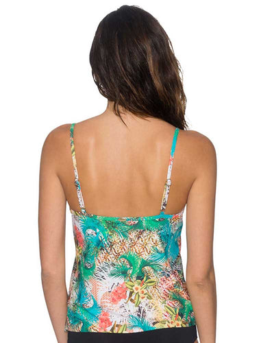 TAHITIAN DREAM AVA TIERED TANKINI TOP SUNSETS 92TTADR