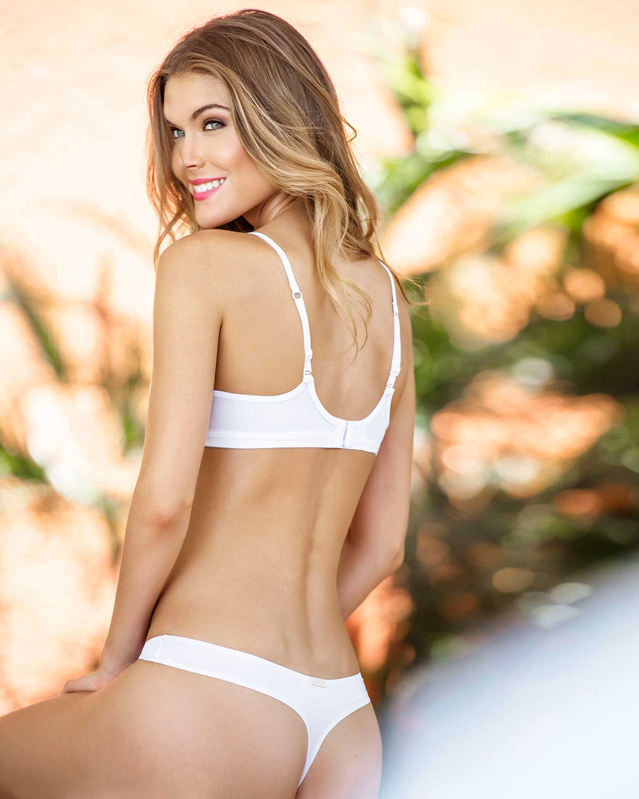 WHITE BASIC NO UNDERWIRE BRA KIBYS 9711.WHT