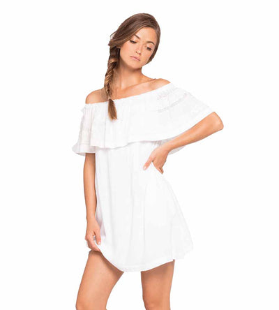 WHITE ABBY DRESS LSPACE ABBDR19-WHT