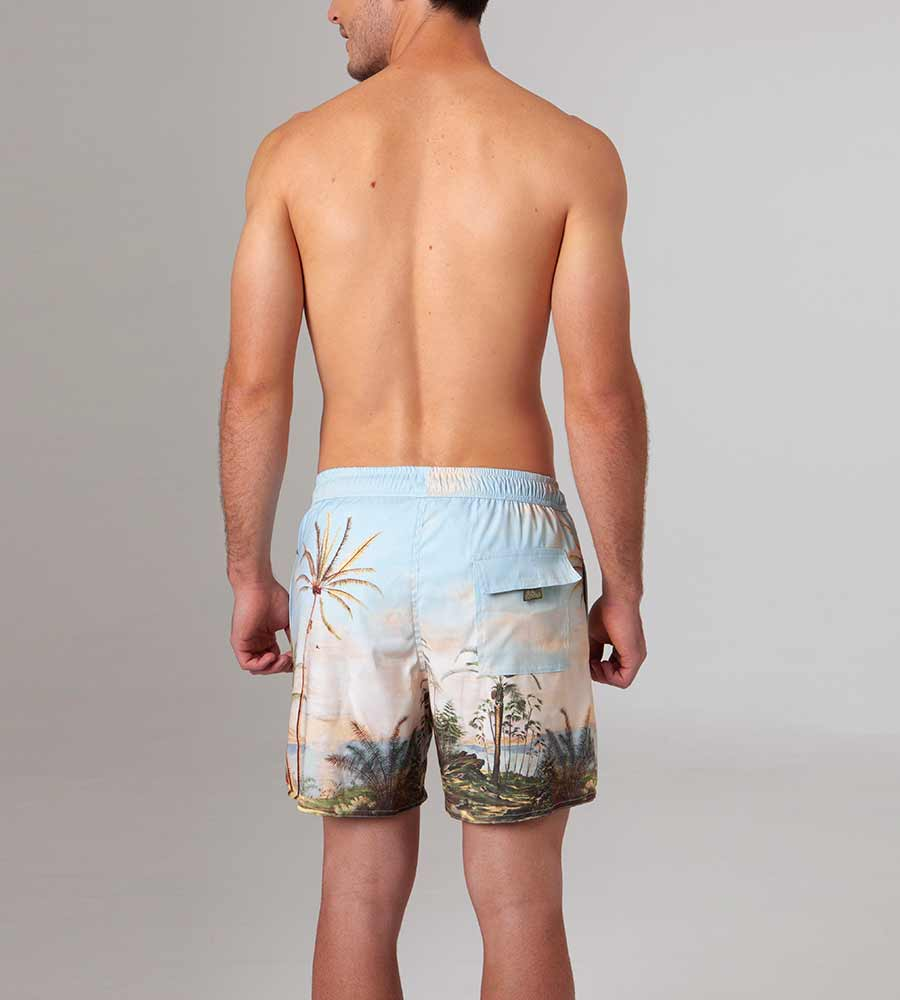 ALDEA JOE SWIM TRUNKS AGUA BENDITA AM2003220-1