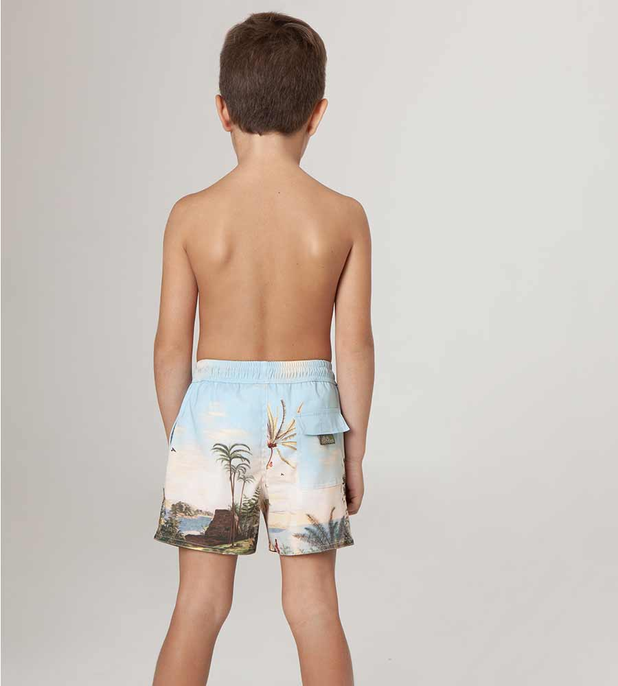 ALDEA NICK BOYS SWIM TRUNKS AGUA BENDITA AN2222620-1