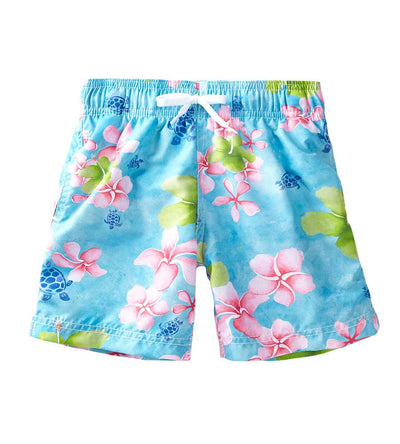AQUA TROPICAL NOTES SWIM SHORTS AZUL 185-A