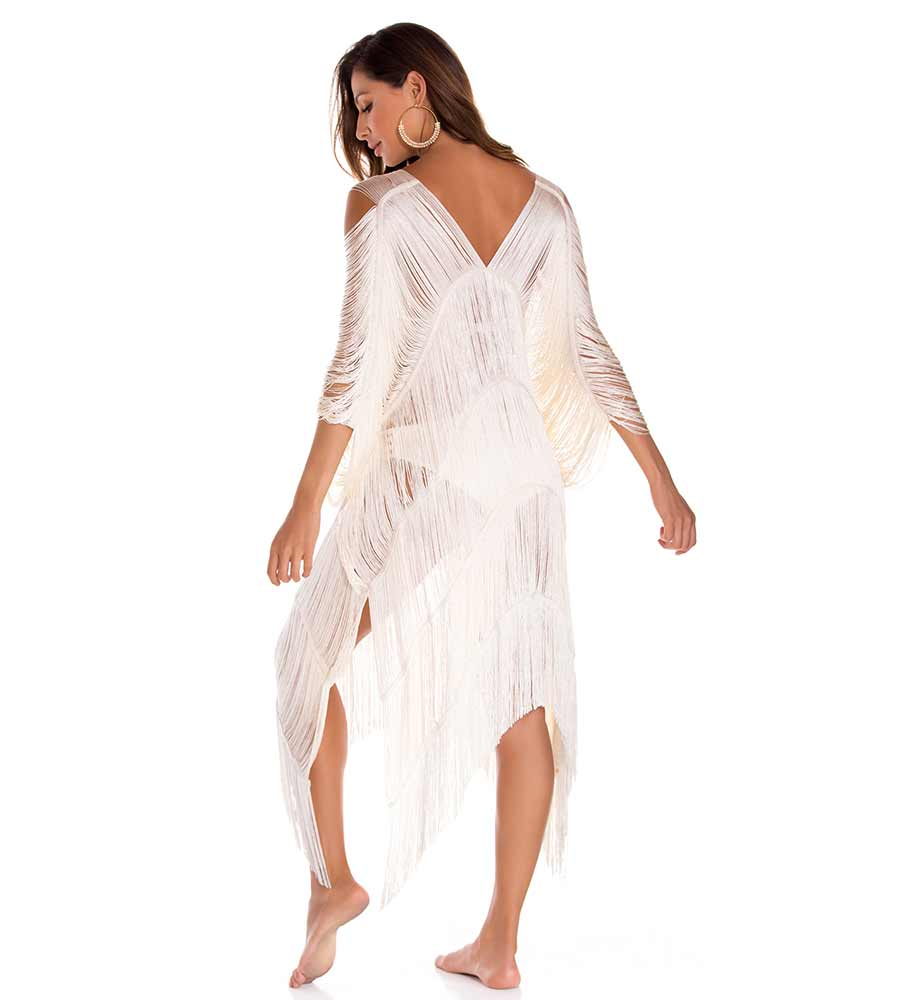 AREZZO IVORY FRINGE COVER UP BY MILONGA